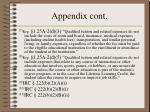 appendix cont