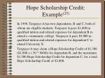 hope scholarship credit example 25