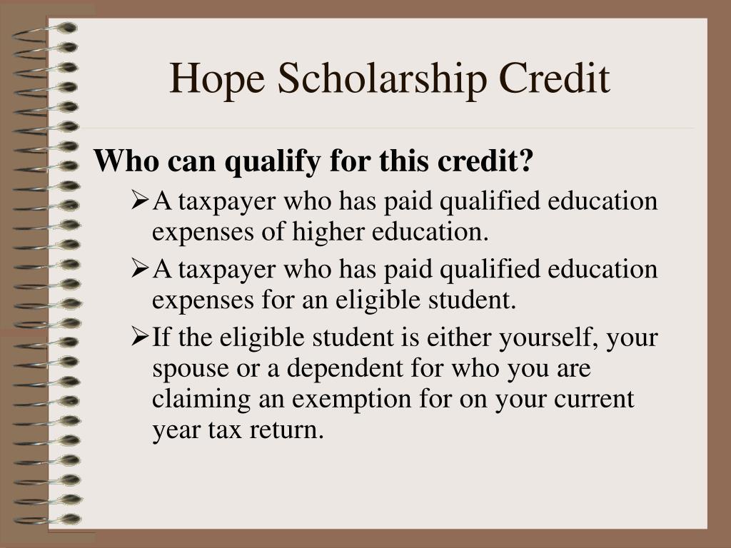 Hope Scholarship Credit