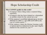 hope scholarship credit24