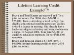lifetime learning credit example 28