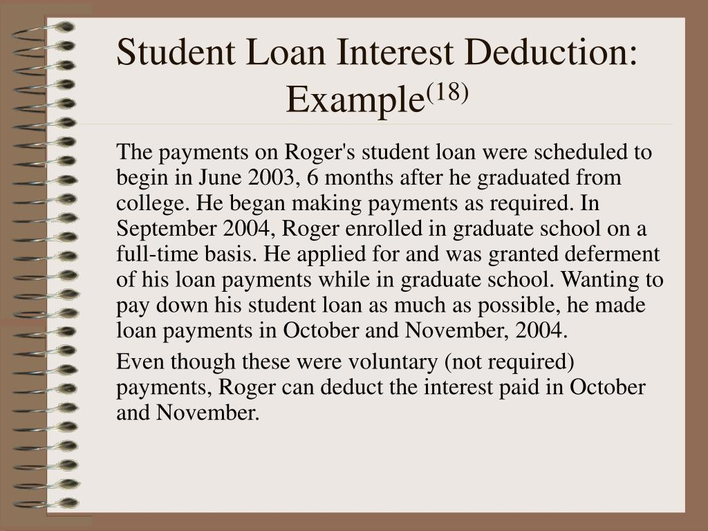 Student Loan Interest Deduction: Example