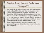 student loan interest deduction example 18