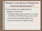 student loan interest deduction general information 18