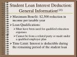 student loan interest deduction general information 1817