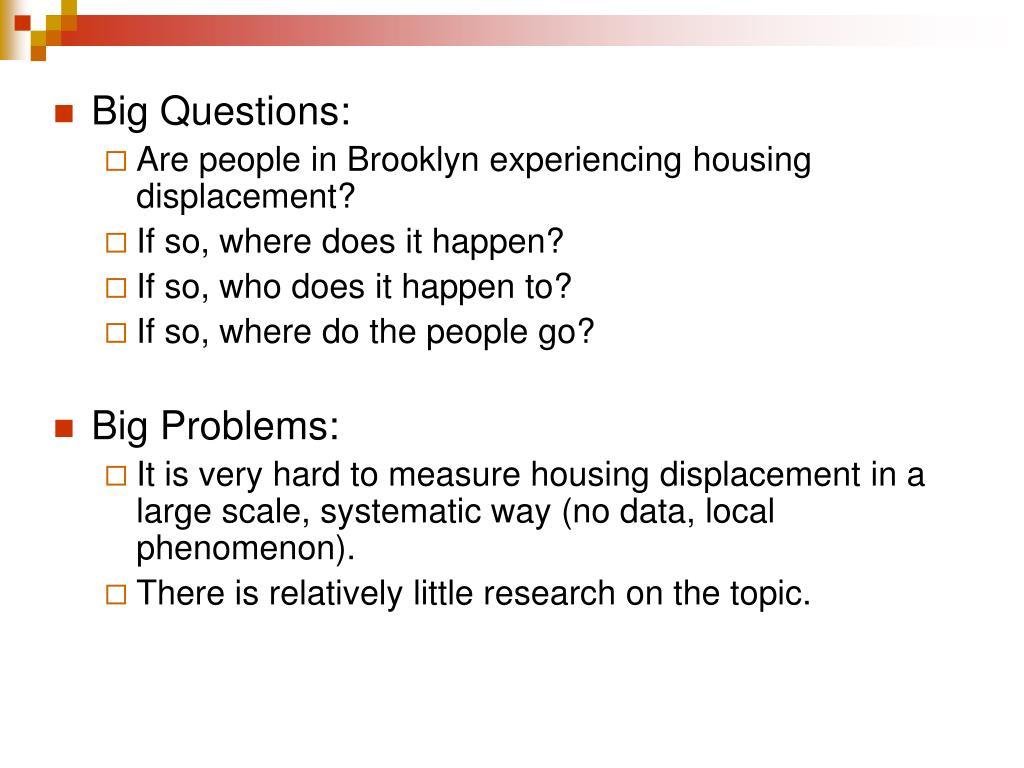 Big Questions: