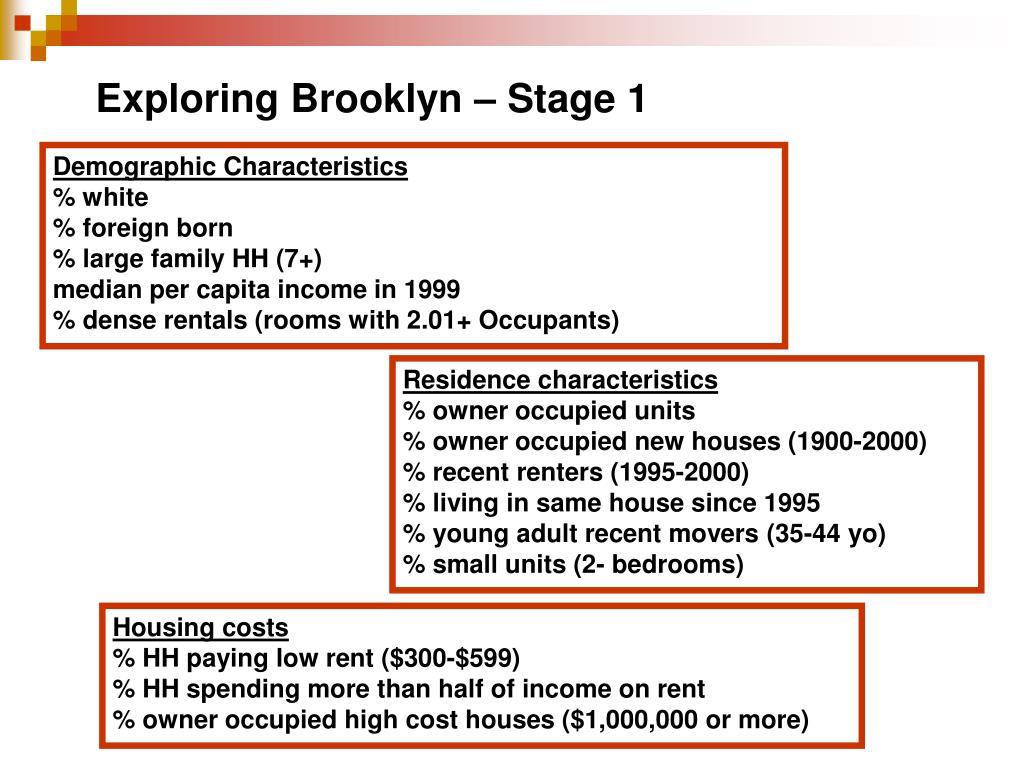 Exploring Brooklyn – Stage 1