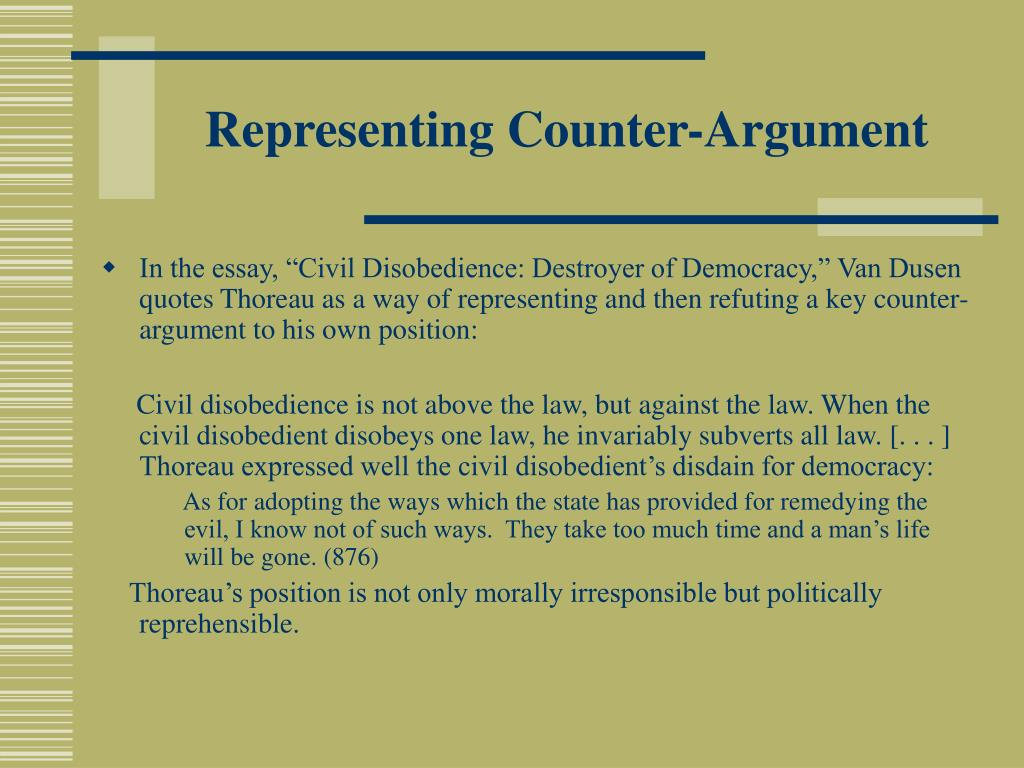 Representing Counter-Argument