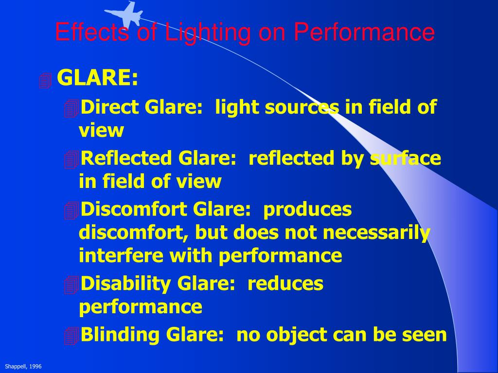 Effects of Lighting on Performance