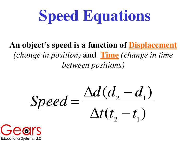 Speed Equations