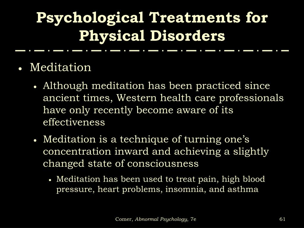Psychological Treatments for Physical Disorders