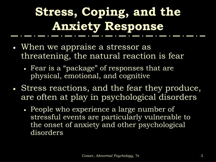 Stress coping and the anxiety response3