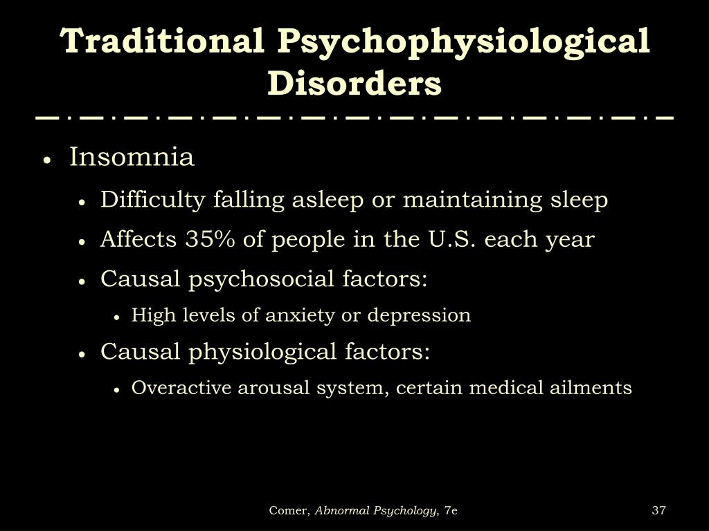 Traditional Psychophysiological Disorders