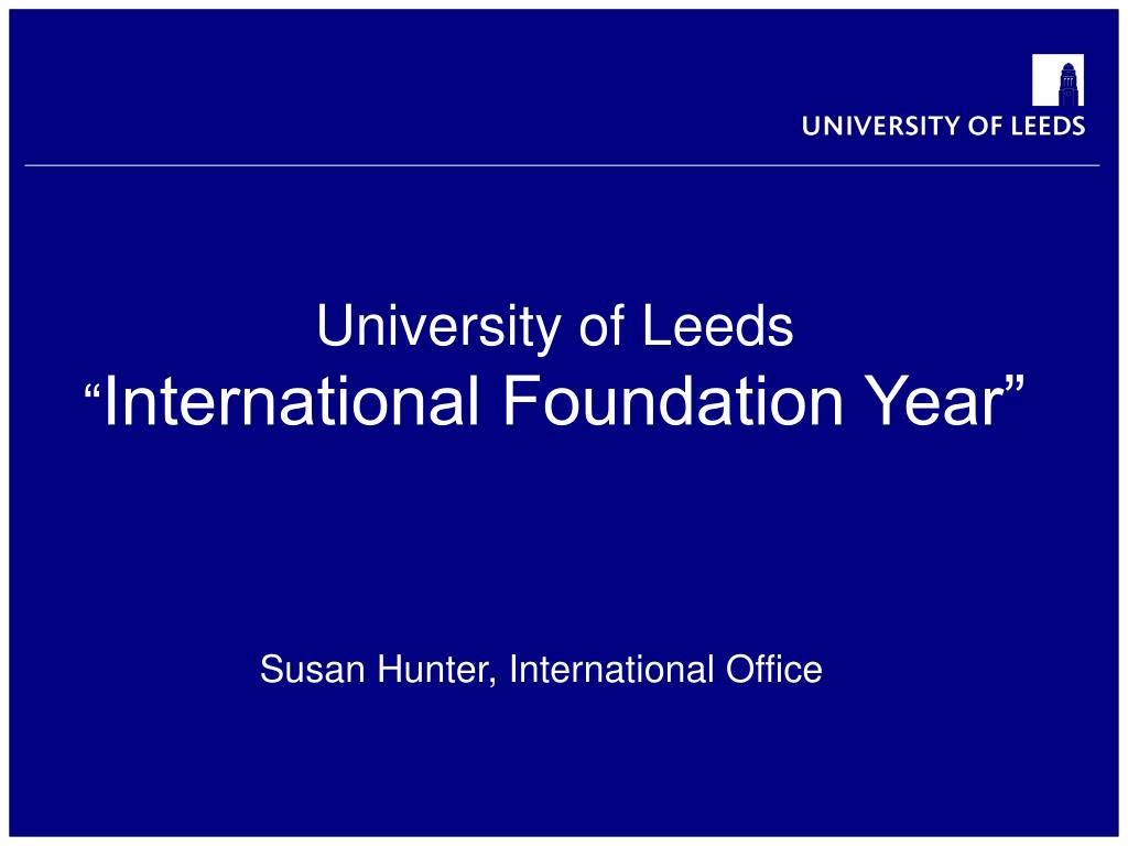 university of leeds international foundation year l.