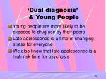 dual diagnosis young people