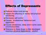 effects of depressants