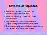 effects of opiates