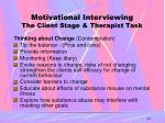 motivational interviewing the client stage therapist task1