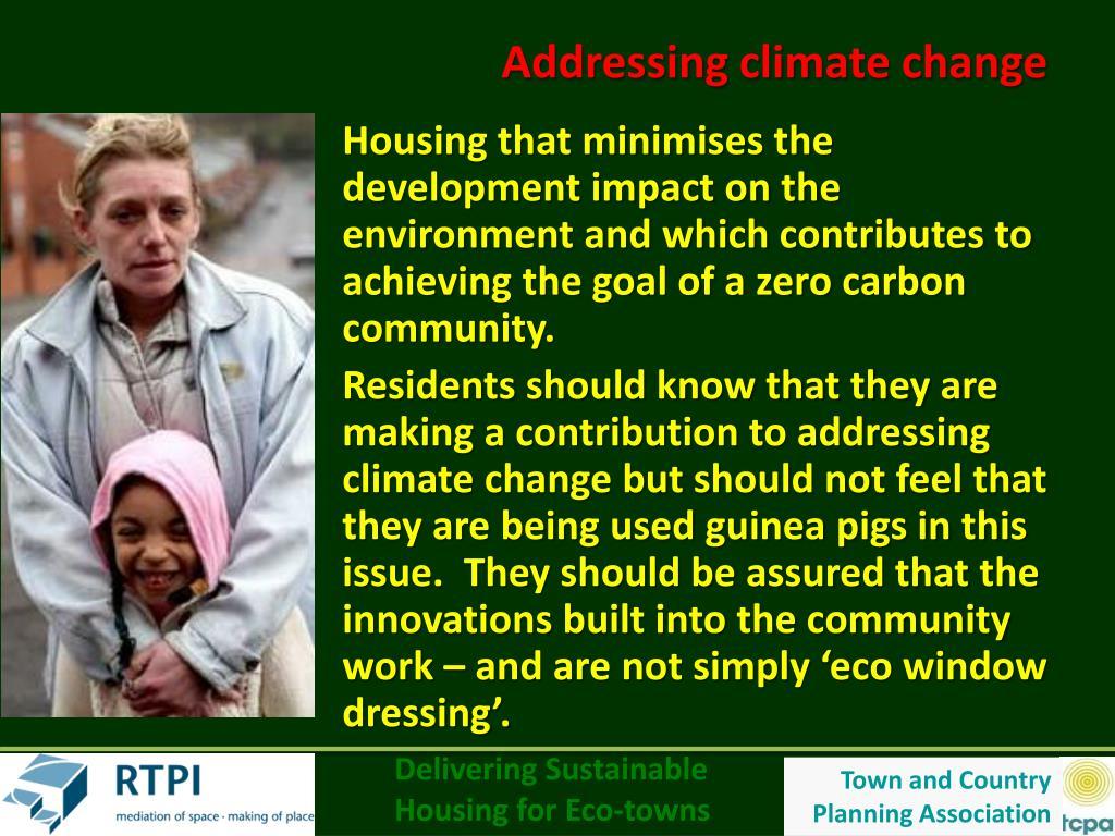 Addressing climate change
