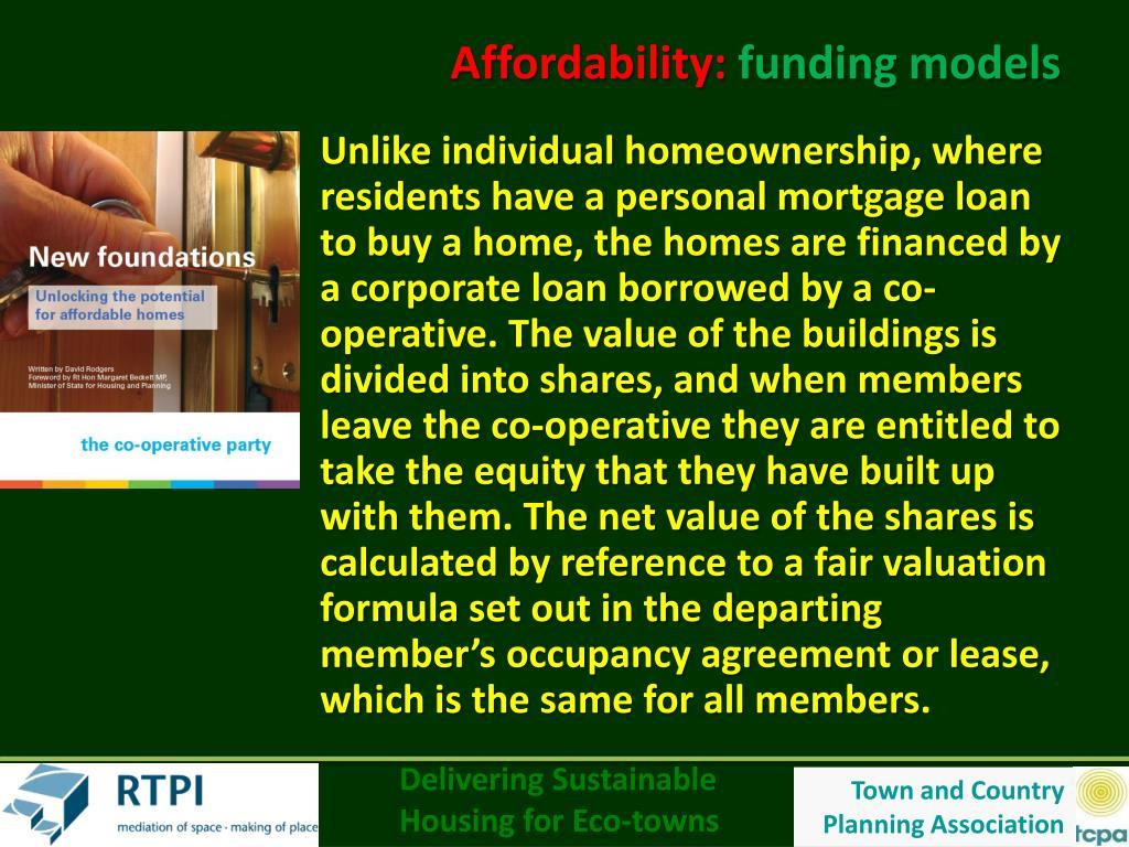 Affordability: