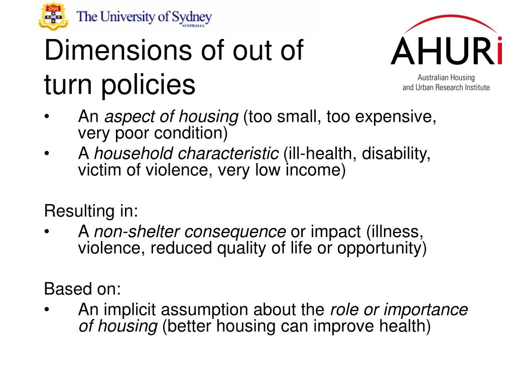 Dimensions of out of turn policies