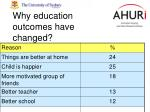 why education outcomes have changed