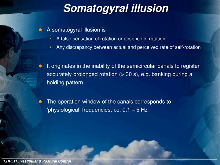 Somatogyral illusion