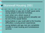 stonewall housing 2001