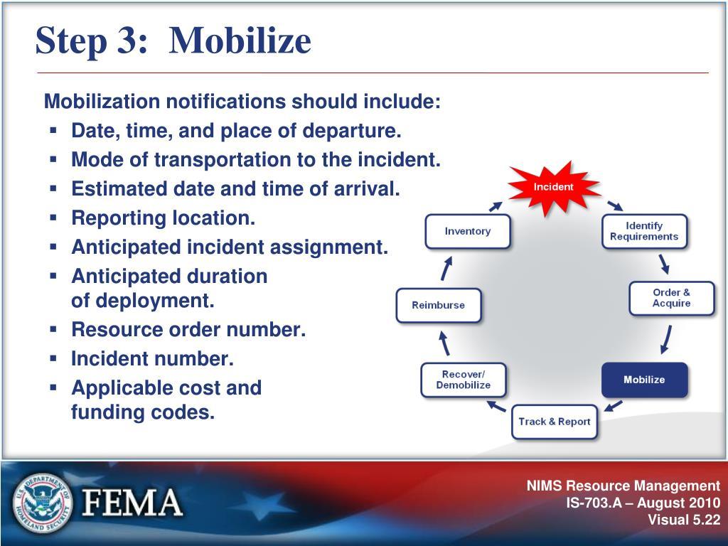 Step 3:  Mobilize