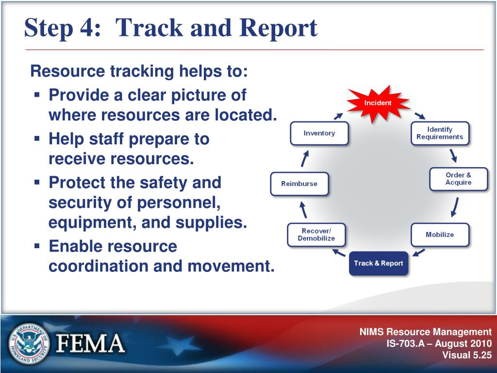 Step 4:  Track and Report