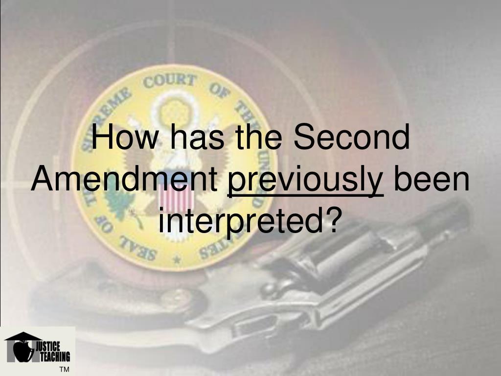 How has the Second Amendment