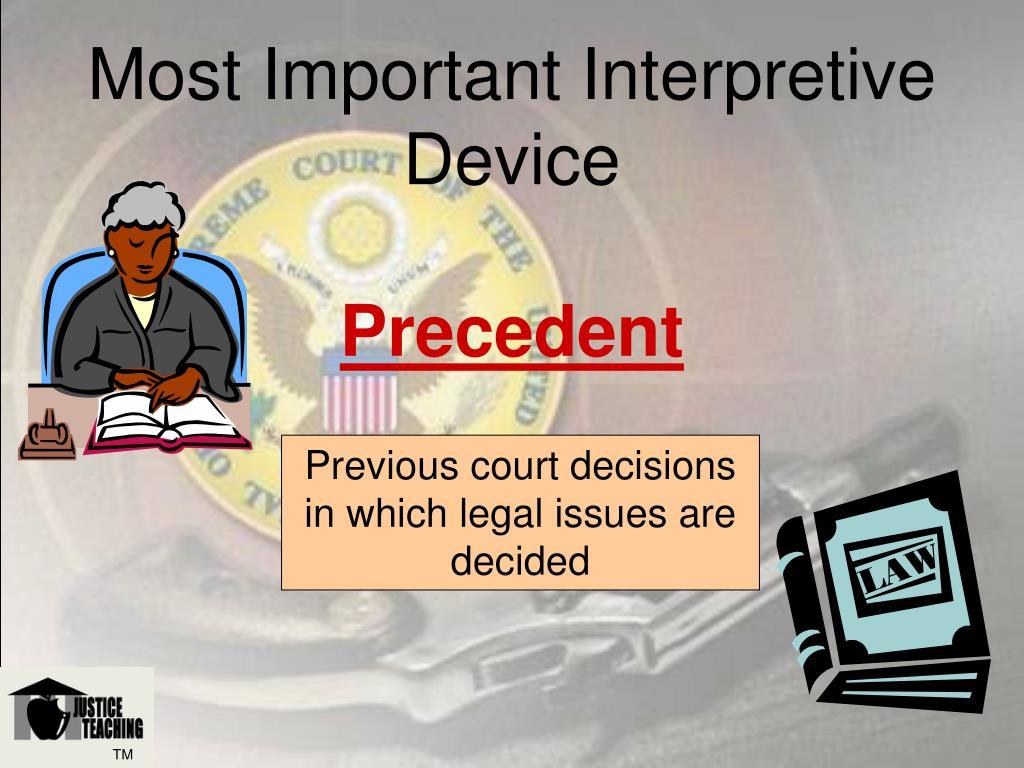 Most Important Interpretive Device