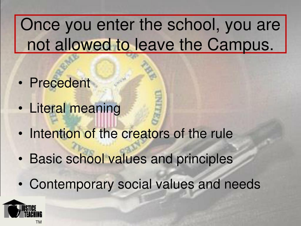 Once you enter the school, you are not allowed to leave the Campus.