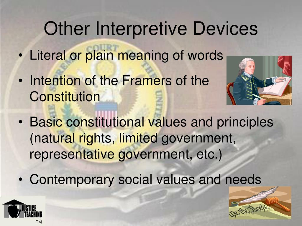 Other Interpretive Devices