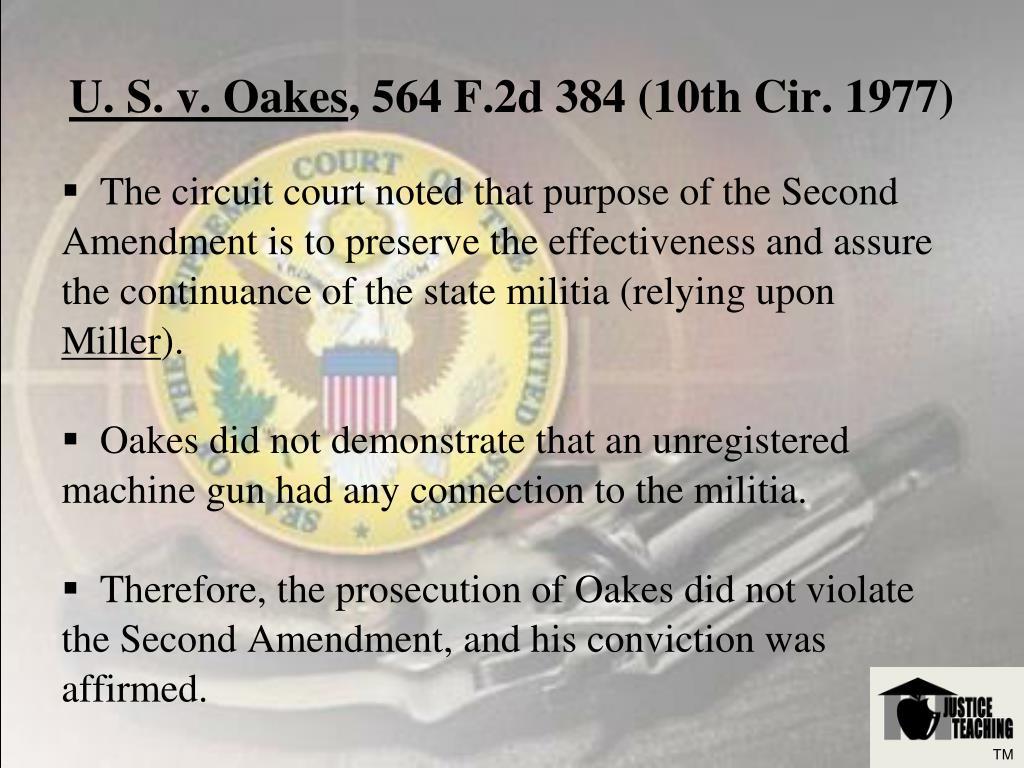 U. S. v. Oakes