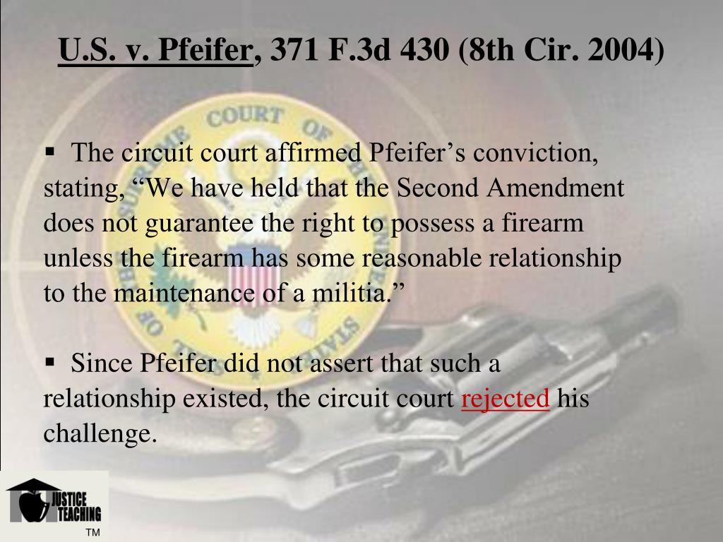 U.S. v. Pfeifer