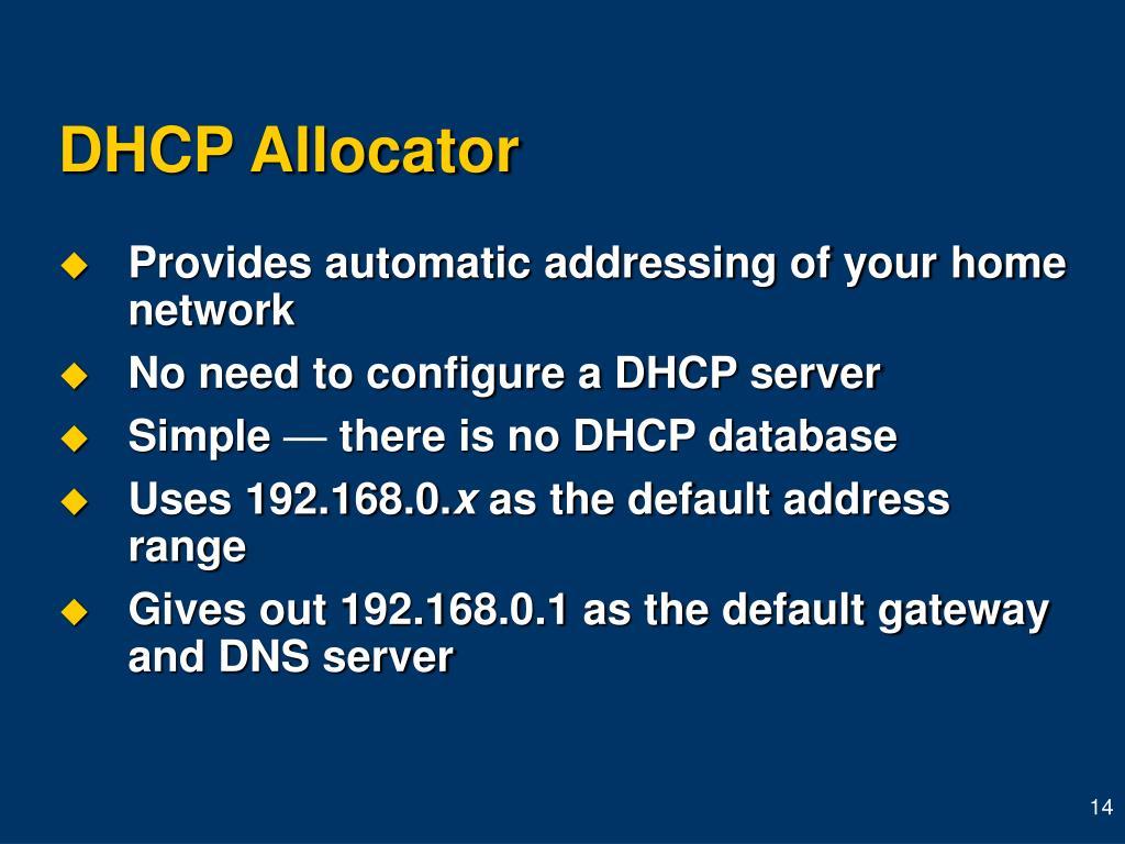 DHCP Allocator