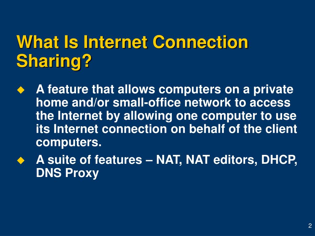 What Is Internet Connection Sharing?