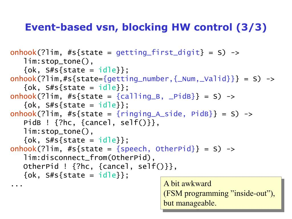 Event-based vsn, blocking HW control (3/3)