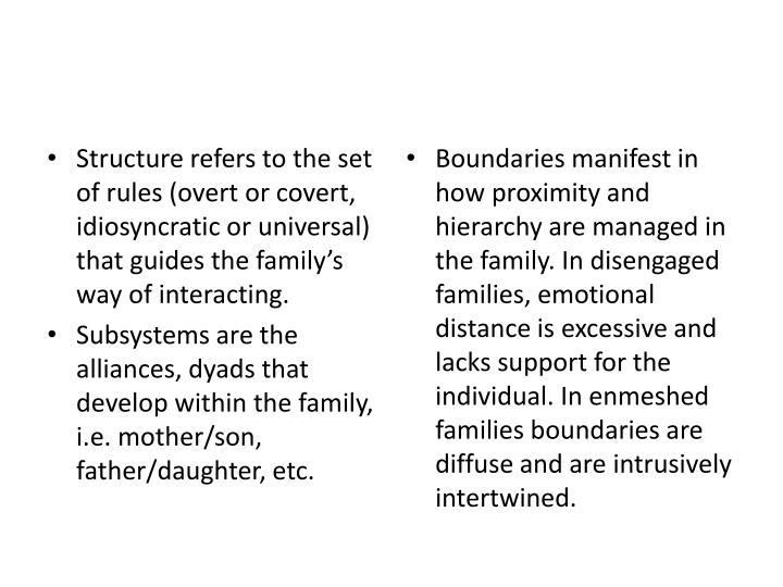 Structure refers to the set of rules (overt or covert, idiosyncratic or universal) that guides the f...