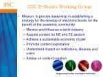 jisc e books working group