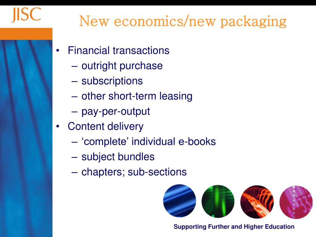 New economics/new packaging