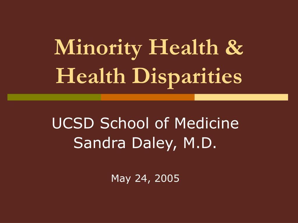 minority health health disparities l.