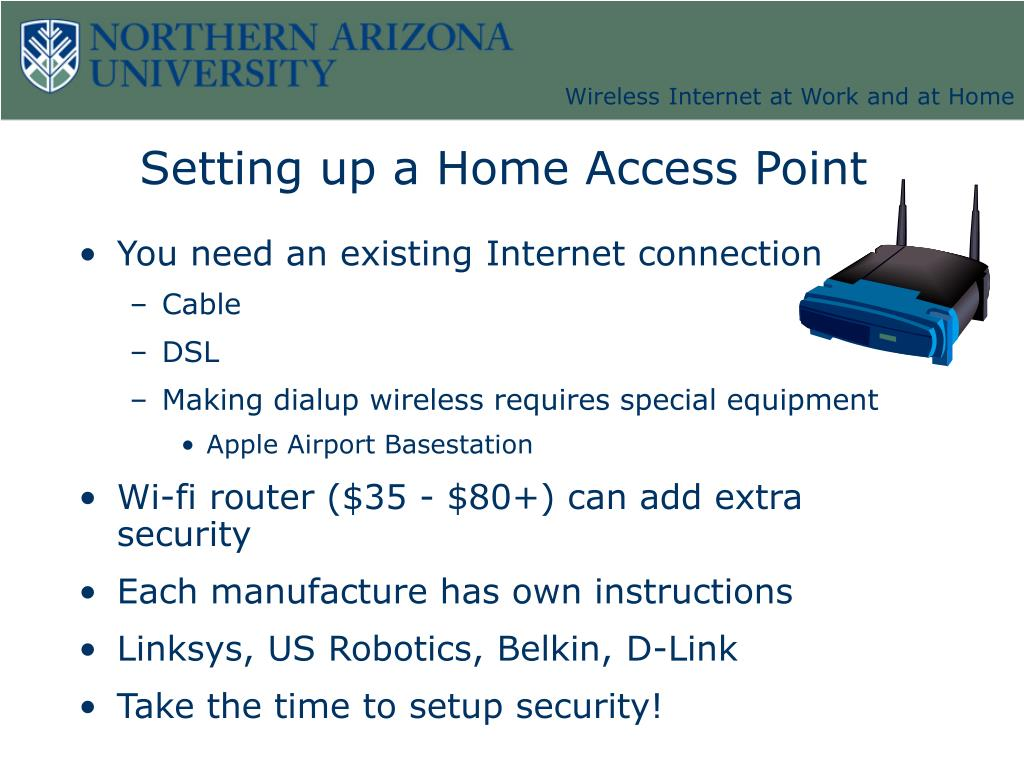 Setting up a Home Access Point