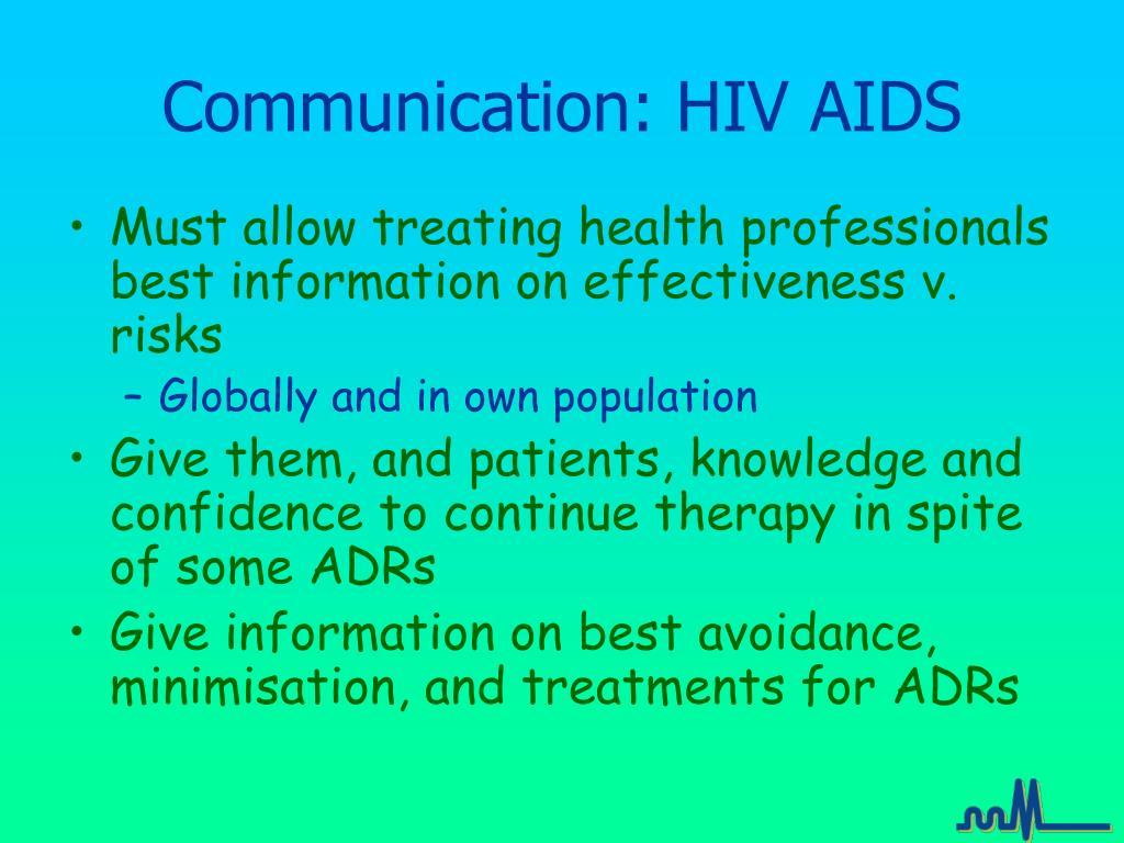 Communication: HIV AIDS