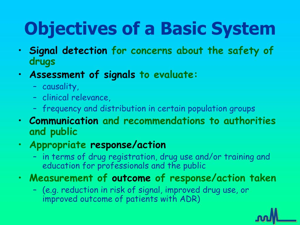 Objectives of a Basic System