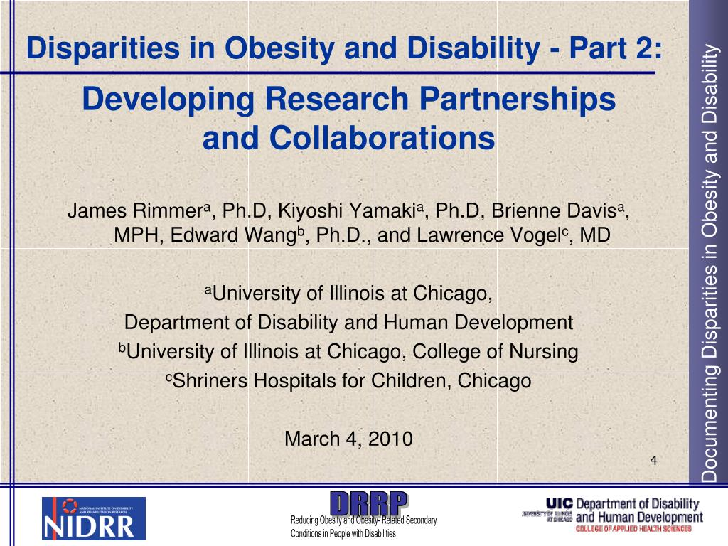 Disparities in Obesity and Disability - Part 2: