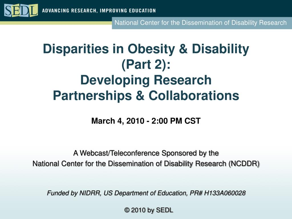 Disparities in Obesity & Disability