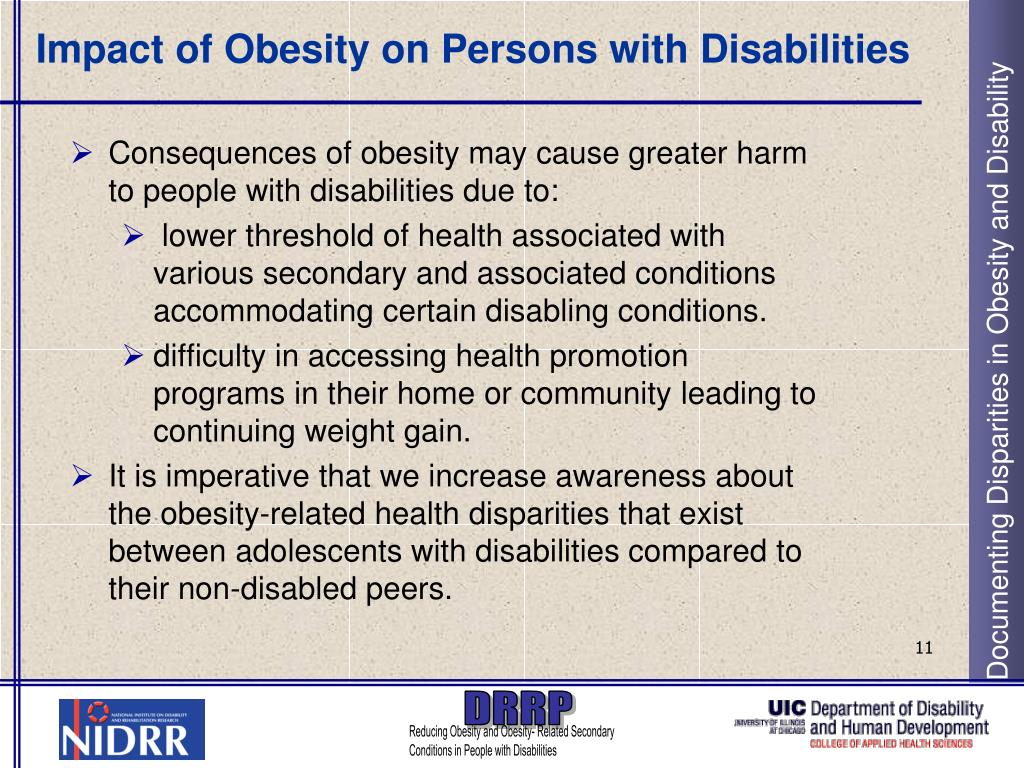 Impact of Obesity on Persons with Disabilities