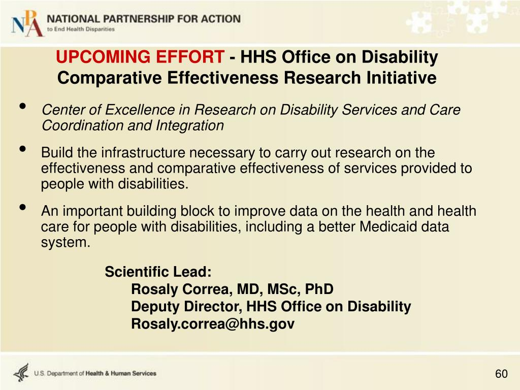 Center of Excellence in Research on Disability Services and Care Coordination and Integration